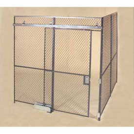 Wov-N-Wire™ 10-Gauge Diamond Mesh Partition Rooms - Preconfigured