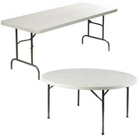 Lorell® Ultra-Lite Polyethylene Folding Tables