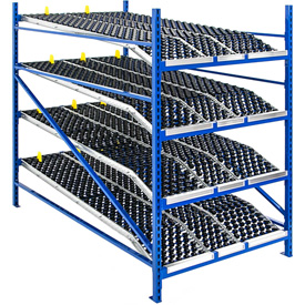 Gravity Flow Roller Racks with Wheel Beds 84