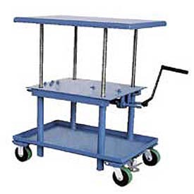 Hand Crank Operated Work Positioning Mobile Post Lift Tables