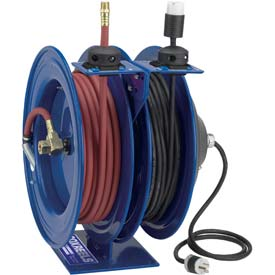 Dual Purpose Combination  Low Pressure Electric Air / Water Hose Reels