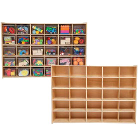 Stationary Cubby Storage Units - With & Without Trays
