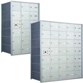 Florence Horizontal Recessed Wall-Mounted Mailboxes 4B+, Front Loading, USPS Access