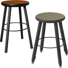 Wisconsin Bench Mfg. - Hardwood Seat 4-Legged Steel Welded Stool