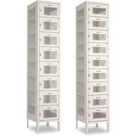 Penco Invincible II, 8 & 9 Tier, Ready To Assemble Steel Lockers With Recessed Handle