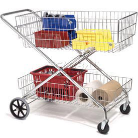 Wire Utility Basket Cart