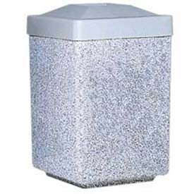 Wausau Tile Concrete Round & Square Waste Receptacles