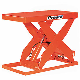PrestoLifts™ HD Scissor Lift Table XL48-60 64x24 Hand Operated 6000 Lb.