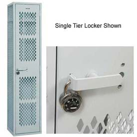 All Welded Penco Angle Iron, Triple Tier, Cremone Turn Handle Lockers