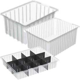 Akro-Mils® Clear Dividable Grid Boxes