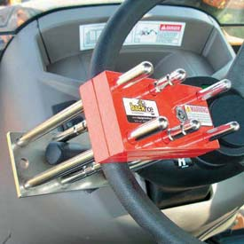 Backhoe Locks For Drive Control And Steering Wheel