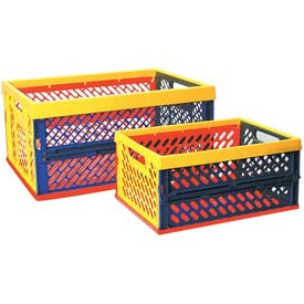 Ventilated Collapsible Toy Storage Crates