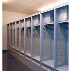 Penco Stadium Steel Lockers With Top Shelf, Security Box & Foot Locker