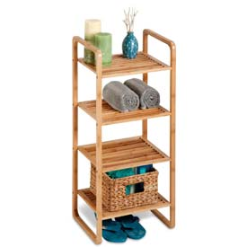 Bamboo and Wood Shelf Stands