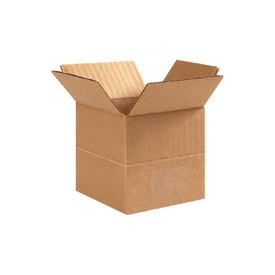 "Multi-Depth Cardboard Corrugated Box 16"" x 16"" x 16""-14""-12""-10""-8"" 200lb Test - 10 Pack"