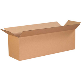 "Cardboard Corrugated Box 20"" x 4"" x 4"" 200lb. Test/ECT-32 - 25 Pack"