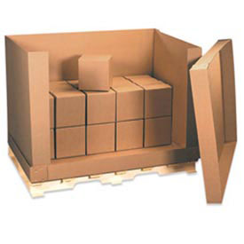 "Doublewall Corrugated Box D Container 58"" x 41"" x 45"" 350lb. 4 Pieces"