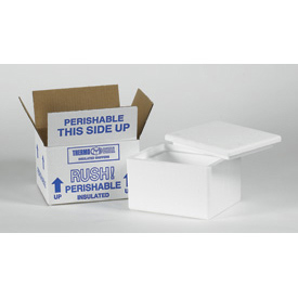 Insulated Container Kit - 8 x 6 x 4-1/2 200lb. Test, Pack of 12 - 12/PACK - Pkg Qty 12