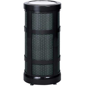 "Sand Top Urn, Black, 12"" Dia x 24""H."