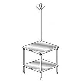 "Aero Manufacturing 2MGRU-2424 24""W x 24""D Mixer Stand with Utensil Rack"