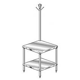 "Aero Manufacturing 2MGRU-3030 30""W x 30""D Mixer Stand with Utensil Rack"