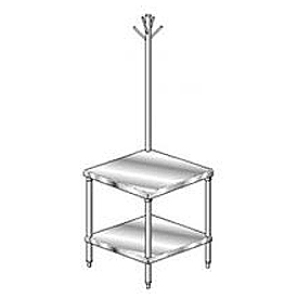 "Aero Manufacturing 2MSRU-2424 24""W x 24""D Mixer Stand with Utensil Rack"