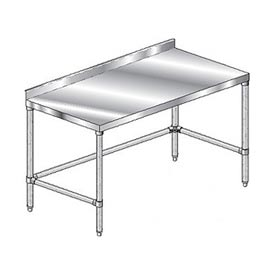 "Aero Manufacturing 2TGSX-24144 144""W x 24""D Stainless Steel Workbench with 2-3/4"" Backsplash"