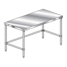 "Aero Manufacturing 2TSX-3672 Stainless Steel Workbench - 72""W x 36""D Premium Flat Top Workbench"