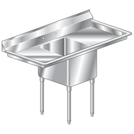 "One Bowl Deluxe SS NSF Sink with two 20'W Drainboards - 20""Wx30""D"