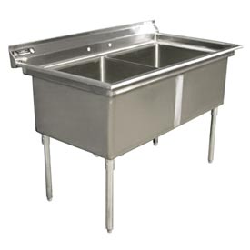 "Aero 3F2-1836 Delux Two Compartment NSF Sink - 36""Wx18""D"