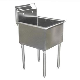 Deluxe SS Non-NSF One Bowl Sink - 24 x 18