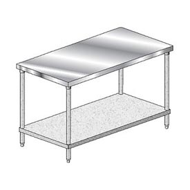 "Aero Manufacturing 3TG-3036 Stainless Steel Workbench - 36""W x 30""D Deluxe Flat Top Workbench"