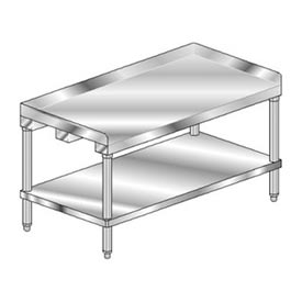 "Aero Manufacturing 4EG-2472 72""W x 24""D Equipment Stand with Galvanized Undershelf"