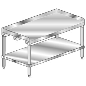 "Aero Manufacturing 4ES-2472 72""W x 24""D Equipment Stand with Stainless Undershelf"