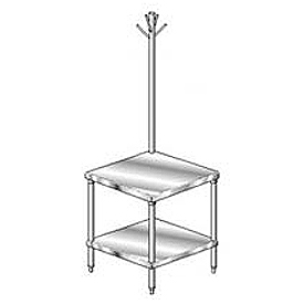 "Aero Manufacturing 4MGRU-2424 24""W x 24""D Mixer Stand with Utensil Rack"