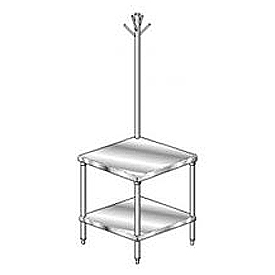 "Aero Manufacturing 4MSRU-2424 24""W x 24""D Mixer Stand with Utensil Rack"