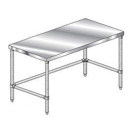 "Aero Manufacturing 4TGX-3672 72""W x 36""D Economy Flat Top Workbench Galv. Legs and Crossbracing"