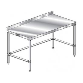 "Aero Manufacturing 4TSSX-3684 84""W x 36""D Stainless Steel Workbench, 2-3/4"" Backsplash"