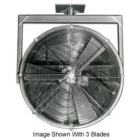 "Americraft 24"" TEFC Alum Propeller Fan W/ 2 Way Swivel Yoke 24DAL-1/32Y-3-TEFC-1/3 HP 5300 CFM"