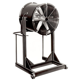 "Americraft 30"" Steel Propeller Fan With High Stand 30DSL-1-1/2H-3-TEFC 1-1/2 HP 11600 CFM"