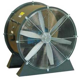 "Americraft 48"" TEFC Aluminum Propeller Fan With Low Stand 48DAL-7-1/2L-3-TEFC 7-1/2 HP 37000 CFM"