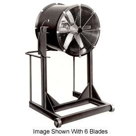 "Americraft 48"" Steel Propeller Fan With High Stand 48DSL-7-1/2H-3-TEFC 7-1/2 HP 36000 CFM"