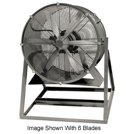 "Americraft 60"" TEFC Aluminum Propeller Fan With Medium Stand 60DALL-10M-3-TEFC 10 HP 57200 CFM"