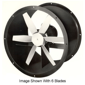 "24"" Totally Enclosed Direct Drive Duct Fan - 3 Phase 1/4 HP"