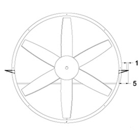 """Horizontal Mounting Brackets for 18"""" Duct Fans"""