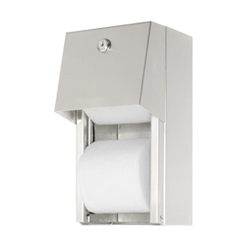 ASI® Surface Mounted Dual Roll Toilet Tissue Dispenser - 0030