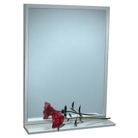"ASI® Fixed Angle Tilt Mirror with Shelf - 16""Wx30""H - 0537-1630"