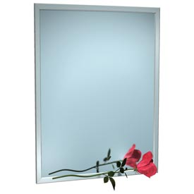 "ASI® Stainless Steel Angle Frame Mirror - 16""Wx30""H - 0600-1630"