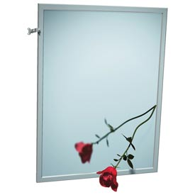 "ASI® Adjustable Tilt Stainless Steel Frame Mirror - 16""Wx30""H - 0600-T1630"