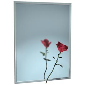 """ASI® Stainless Steel Channel Frame Mirror - 24""""Wx24""""H - 0620-2424"""